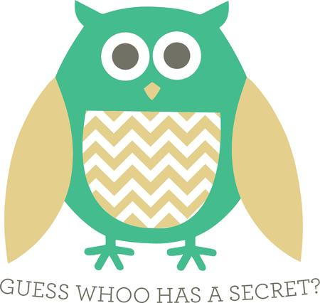 hoot: This trendy owl decked out in chevron is a perfect way to decorate apparel or pillows.