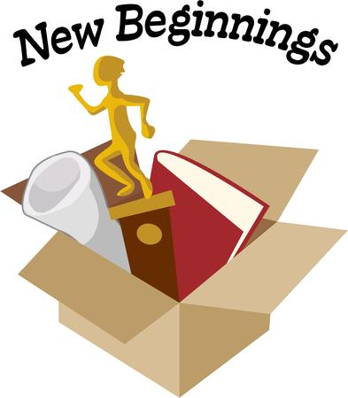 beginnings: Pack your valuables and head off to college.  Dont forget the special trophies books and treasures to adorn the dorm room.