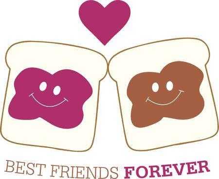 peanut butter and jelly: Love peanut butter love jelly  Put them together to create everyones favorite sandwich.  Super fun for kid lunch carriers.