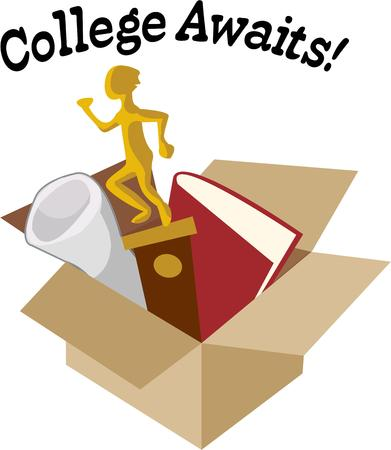 valuables: Pack your valuables and head off to college.  Dont forget the special trophies books and treasures to adorn the dorm room.