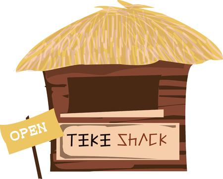 refreshment: Find refreshment and relaxation at the tiki shack.  This grass hut adds a unique tropical charm.