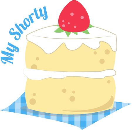 shortcake: Life is uncertain  eat dessert first  Especially if it is as tasty as this strawberry shortcake.  Add it to cloth napkins for a tasty touch