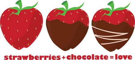 shortcake: Go from a plain strawberry to a chocolate dipped and decorated strawberry  However you choose this yummy snack is sure to be a favorite. Illustration