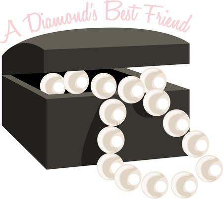 jewelry boxes: A lovely string of pearls in a black velvet box is the perfect gift.  Every girl needs a string of pearls.