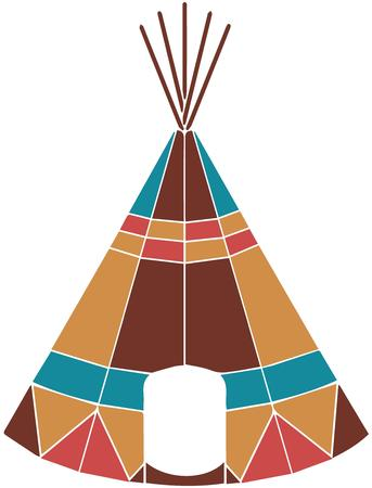 pretend: This teepee is sat apart from typical with vivid geometric color designs.  This is the teepee every pretend indian dreams of