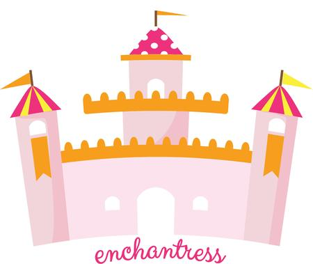 the citadel: This lovely pink castle is fit for your little princess.  Include it in the little royals room decor.