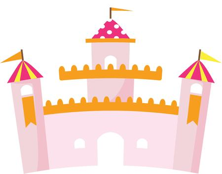citadel: This lovely pink castle is fit for your little princess.  Include it in the little royals room decor.