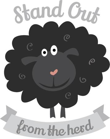 regarded: Black Sheep is a member of a family or group who is regarded as a disgrace to it. Illustration