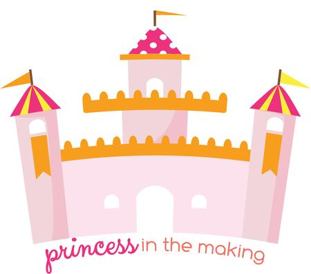 royals: This lovely pink castle is fit for your little princess.  Include it in the little royals room decor.