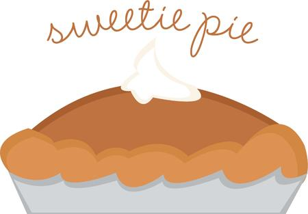 pumpkin pie: Everyone loves pumpkin pie. Illustration