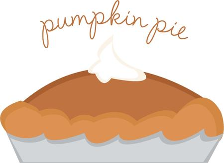 loves: Everyone loves pumpkin pie. Illustration