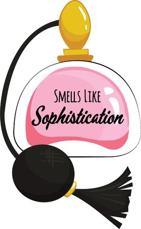 scent: A lovely scent radiates from this elegant atomizer.  The perfect accessory for the ladies dressing table. Illustration