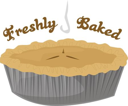 freshly baked: Bakers will show love with pies. Illustration
