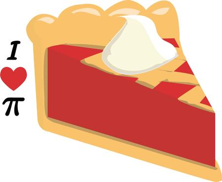 whip cream: Fresh baked pie is a yummy favorite.  Add this tasty treat to your kitchen linens. Illustration