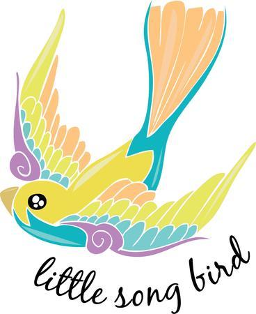 song bird: Pretty song bird for a bird lover. Illustration