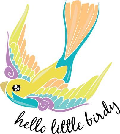 little bird: Un peque�o p�jaro amistoso.
