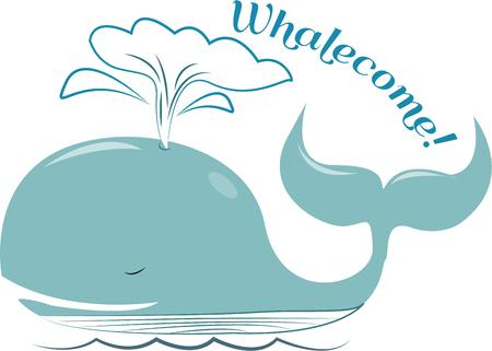 cetacean: This lovely blue whale is perhaps the oceans most magical sea creature.  This guy is also a fun way to decorate towels and linens