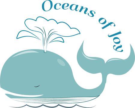 baleen whale: Esta hermosa ballena azul es quiz�s criatura marina m�s m�gica del oc�ano. Este tipo es tambi�n una manera divertida de decorar toallas y ropa de cama Vectores