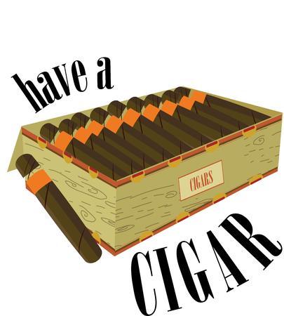 light up: Illumina un sigaro e rilassarsi. Questa scatola di sigari premium � fragrante e piacevole. Vettoriali