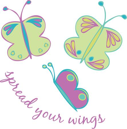 grow up: Children grow up and spread their wings like butterflies.