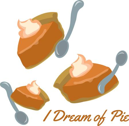 whip cream: Cook will want these pies as a kitchen decor. Illustration