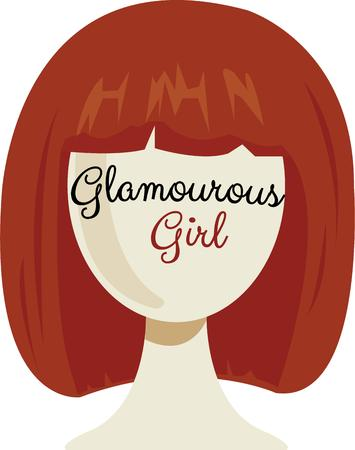 wig: Take on a whole new identity with new hair.  This bob cut wig allows you go in disguise. Illustration