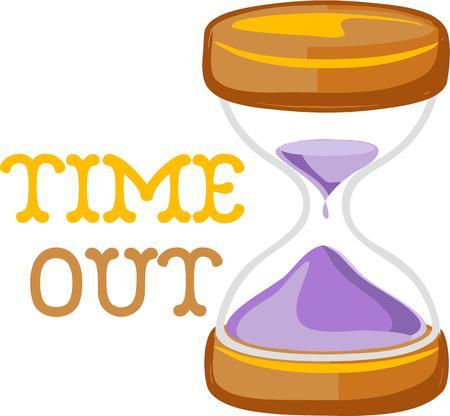 cronologia: Use un reloj de arena al coplement y proyecto. Vectores