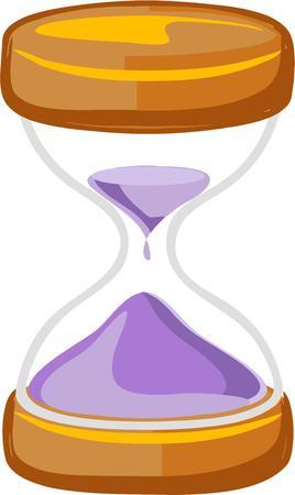 chronologie: Utilisez un verre d'heure � coplement et projet.
