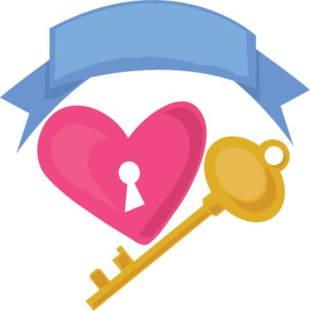 door lock love: Who holds the key to your heart  Use this big blue banner to display that special message