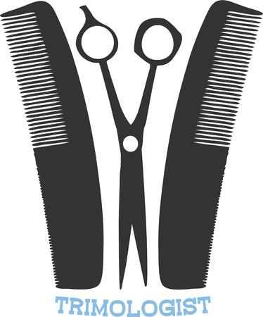 capes: No barber can be without their scissors and combs.  This is a great graphic to decorate barber shop capes.