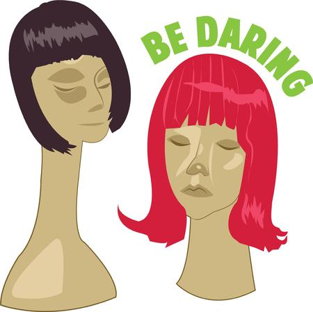 wigs: Beauticians and hair stylists will want these wigs. Illustration