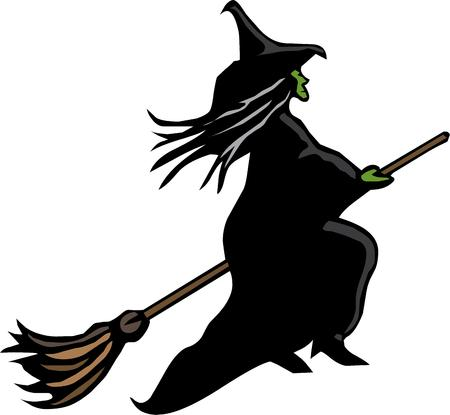 hag: Witches are the perfect halloween symbol. Illustration