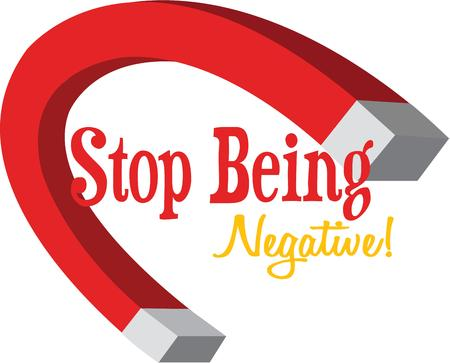 negativity: A horseshoe magnet can demonstrate an attraction.