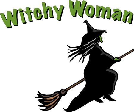 crone: Witches are the perfect halloween symbol. Illustration