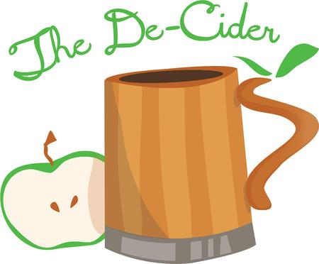 cider: Apple Cider is a refreshing drink.  It is great as kitchen decor.