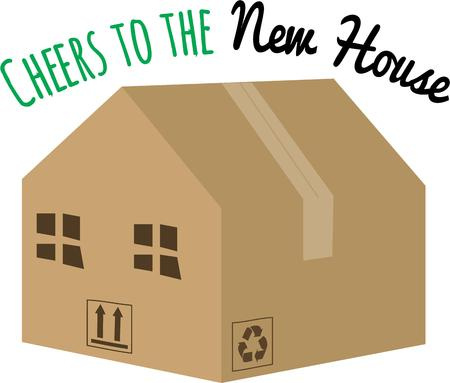 exciting: Moving to a new home is always an exciting time. Illustration