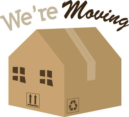home moving: Moving to a new home is always an exciting time. Illustration