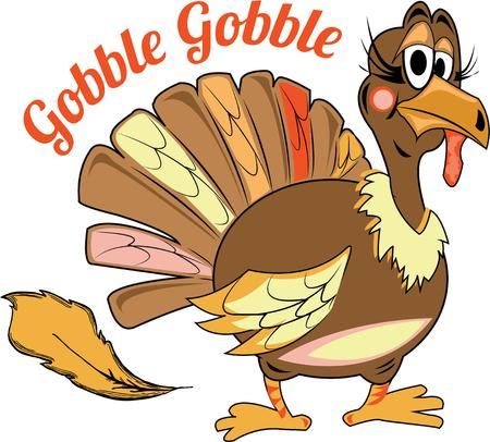 gobbler: Thanksgiving turkey is esential for holiday decor.