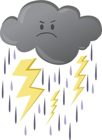 storm cloud: Some people can use this storm cloud as a warning of a bad mood. Illustration