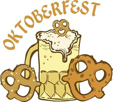 european culture: A perfect oktoberfest food combo.