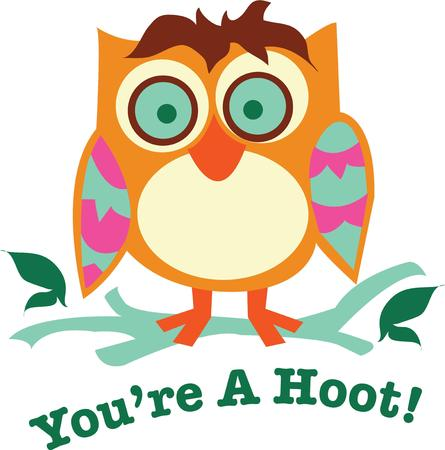bout: Owl lovers will like this cute big eye bird. Illustration