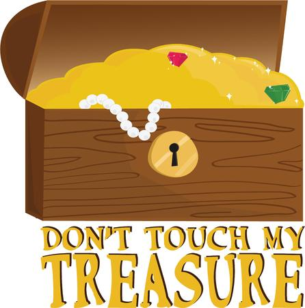 jewelry boxes: A treasure chest for a pirate project. Illustration
