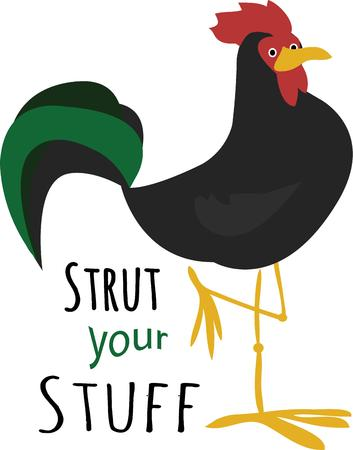 strut: Roosters are a popular kitchen decor accent. Illustration
