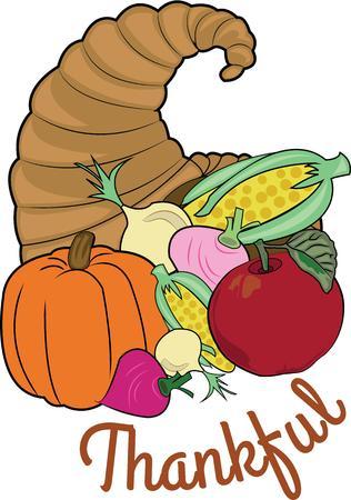 cornucopia: Un cuerno de la abundancia es una decoraci�n de vacaciones perfecto.