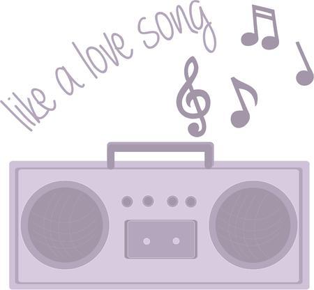 boom box: Teenagers will like having their own boom box radio Illustration