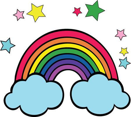 complement: Rainbows will complement a childs room.