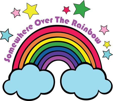 childs: Rainbows will complement a childs room.