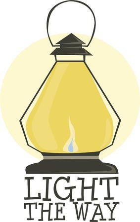 all love: Campers tutti amano una lanterna.