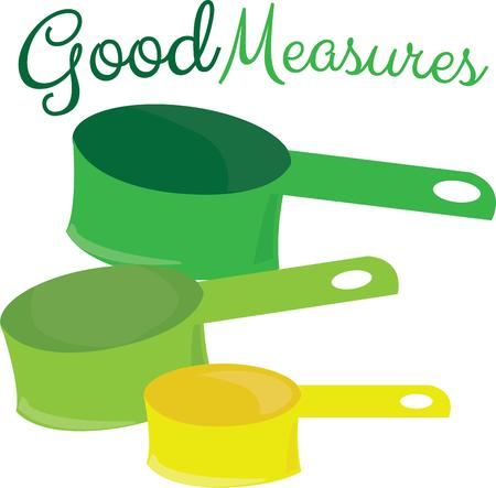 measures: Accurate measure is vital for good results in cooking.  These measures add the plus of pretty vibrant colors to your kitchen scheme.