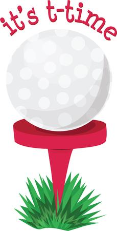 tee off: Golfers can tee off with a new golf ball. Illustration
